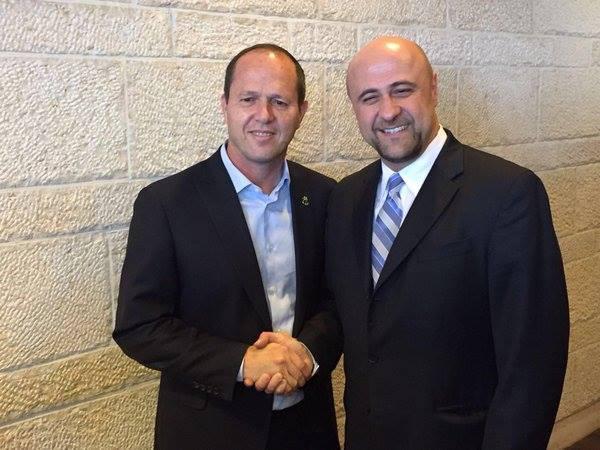 Robert and Mayor of Jerusalem, Nir Barkat