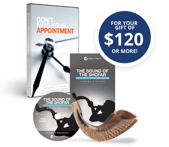 """Don't Miss Your Appointment CD/DVD/Digital Download teaching, Sound of the Shofar CD teaching and Study Guide, 8-10"""" ram horn"""